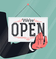 Were Open Sign vector image vector image