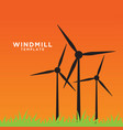windmill on field at afternoon vector image