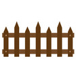 wooden fences icon on white background flat vector image