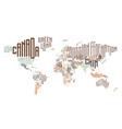 world map made typographic country names vector image vector image