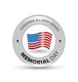 Memorial day badge vector image