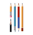 set of sharpened pencils of various types vector image