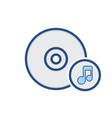 cd compact disk drive music storage icon vector image