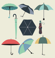 fashion umbrellas in flat style vector image