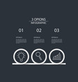 3 steps infographic design template circle style vector image vector image