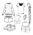 A set of summer outfit collection vector image vector image