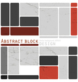 abstract design blocks vector image vector image