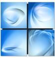 Abstrakt blue background vector image vector image