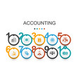 accounting infographic design templateasset vector image vector image