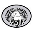an emblem of an eagle vector image vector image