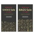 baBags and shoes sale banners vector image