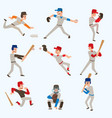 baseball team players sport man in uniform vector image vector image