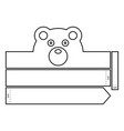 bear coloring headband vector image vector image