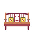 bench flat icon vector image vector image