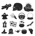 black and white magic black icons in set vector image vector image