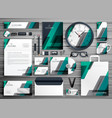 business stationery set design for your brand vector image vector image