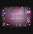 christmas festive backdrop vector image