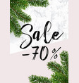 christmas sale banner marble and pink vector image vector image