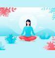 concept meditation health benefits vector image vector image