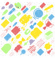 concept of education seamless pattern school vector image