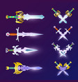 crossed magic weapon set vector image vector image