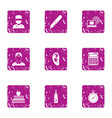 ear doctor icons set grunge style vector image vector image