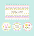 easter cards and circle labels vector image
