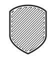emblem in monochrome contour and striped vector image vector image