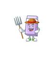 farmer purple eraser for school equipment vector image vector image