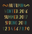 four seasons lettering