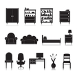 Furniture Icons Black vector image