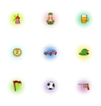 Germany icons set pop-art style vector image vector image