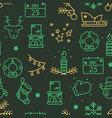 green and gold christmas seamless pattern with new vector image vector image