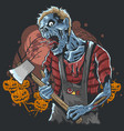 halloween zombie party artwork vector image vector image