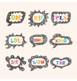 Hand drawn speech bubble set with short phrases Oh vector image vector image