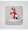 icon united kingdom map with flag vector image