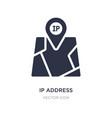 ip address point locator icon on white background