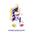 isometric customer chatbot composition vector image