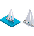 isometric yacht vector image vector image