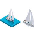 isometric yacht vector image