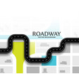 journey route road map concept background design vector image vector image