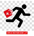 Late Airport Passenger Eps Icon vector image vector image
