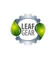 leaf gear logo concept design symbol graphic vector image vector image