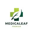 medical leaf health herbal logo icon vector image