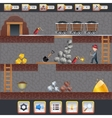 Mining Game Interface vector image vector image