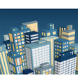 Night city landscape isometric view