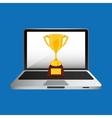 online education concept trophy award vector image