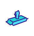 pack wet wipes view at angle icon