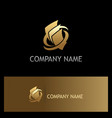 paper document gold business logo vector image vector image