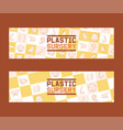 plastic surgery set of banners vector image vector image